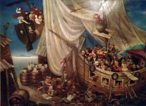 """Ship of Fools, Корабль Дураков 36"""" x 48"""""""
